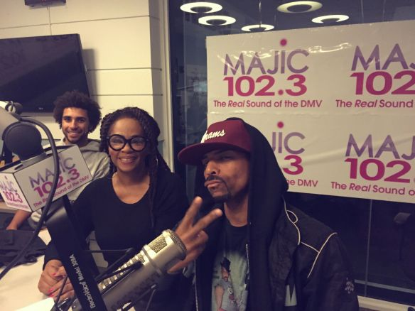 On air! Jody Watley and Shalamar.