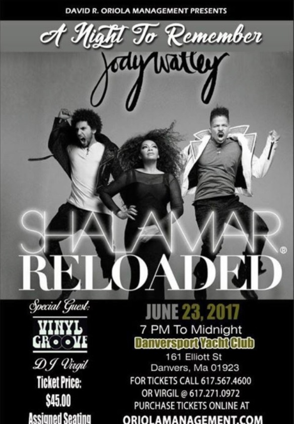 DANVERS FLYER JUNE 23 JODY WATLEY SRL SHALAMAR RELOADED