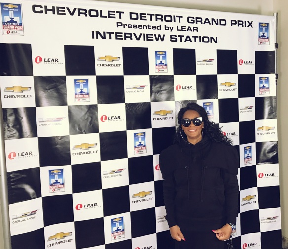 Jody Watley Detroit Grand Prix Interview Station