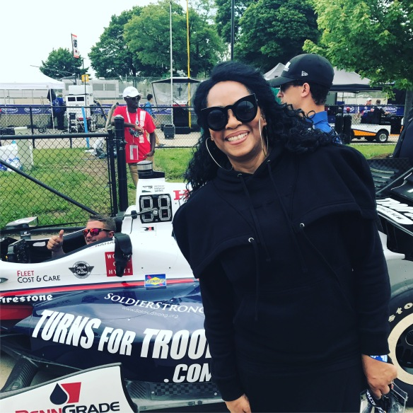 Jody Watley Detroit Grand Prix race care pic