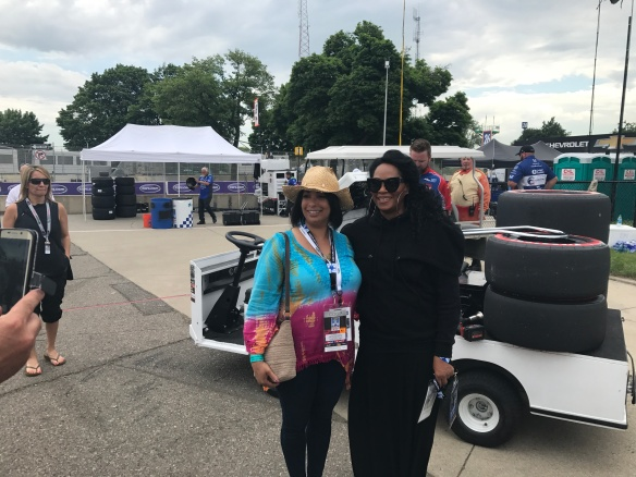 Jody Watley fan greeting Detroit Grand Prix