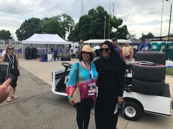 Jody Watley fan greeting Detroit Grand Prix