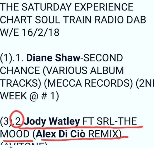 Soul Train Radio Jody Watley SRL The Mood Number One