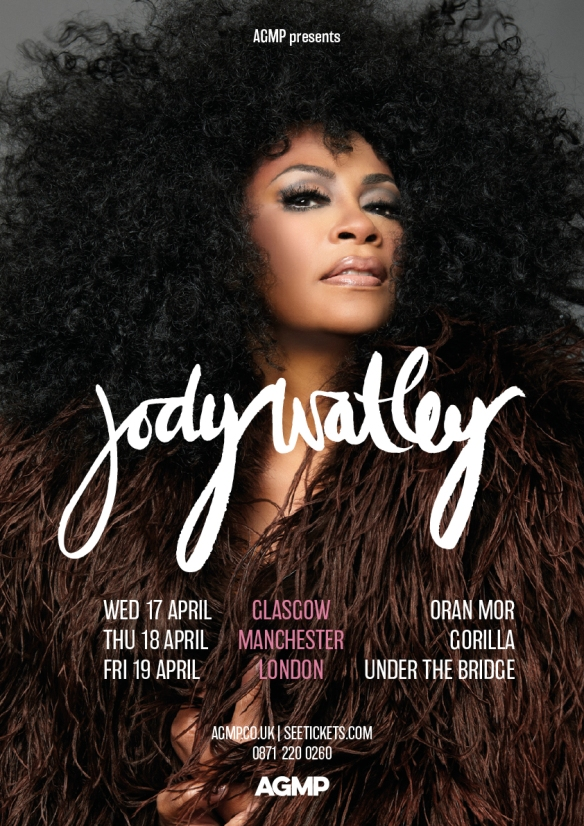 Jody Watley UK Dates Announcement Flyer