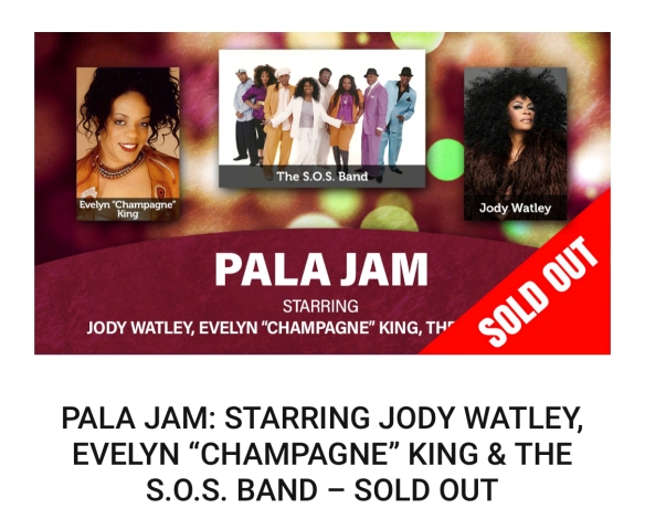 Pala Jam 2019 Jody Watley Ev King Sos Band Sold Out