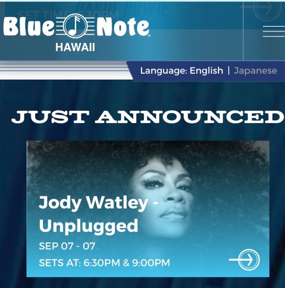 Jody Watley Blue Note Hawaii Unplugged