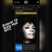 Just Announced. Jody Watley Returns to New York Set To Play Sony Hall.